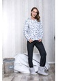 Lingabooms Baskılı Fermuarlı Kadın 2'li Pijama Takım  Pembe